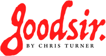 Goodsir by Chris Turner Logo (red lowercase font)