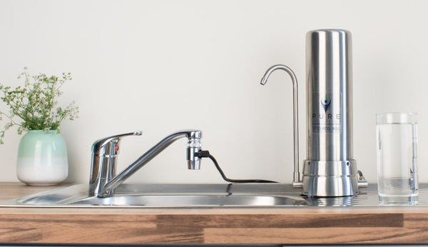 Installed Stainless Steel Bench Top Water Filter