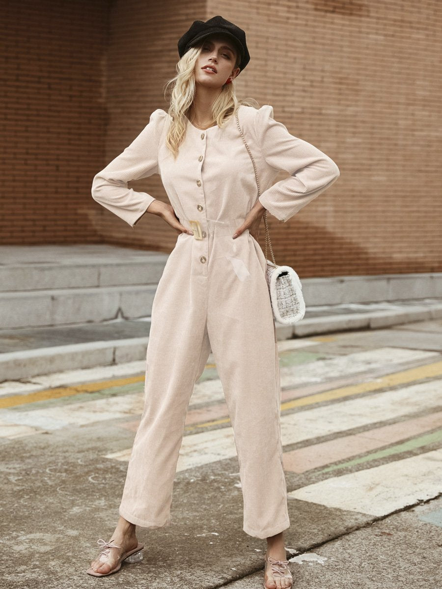 Corduroy Jumpsuit Light