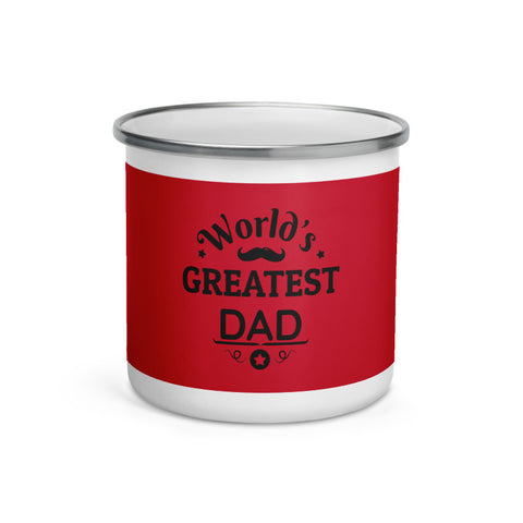Enamel Mug World's Greatest Dad (Red)