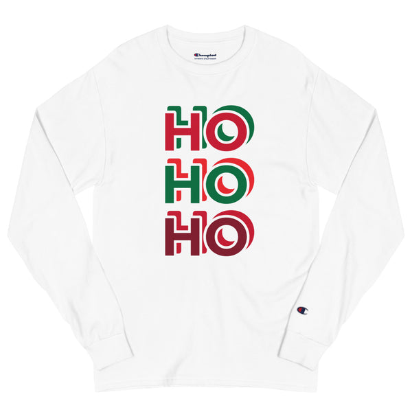 Men's Champion Long Sleeve Shirt - Ho Ho Ho