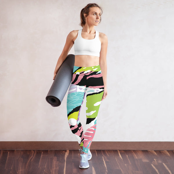 TLS  Yoga Leggings with Pink Pop Art - T's Little Somethings