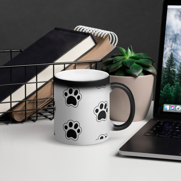 Matte Black Magic Dog Paw Mug - T's Little Somethings
