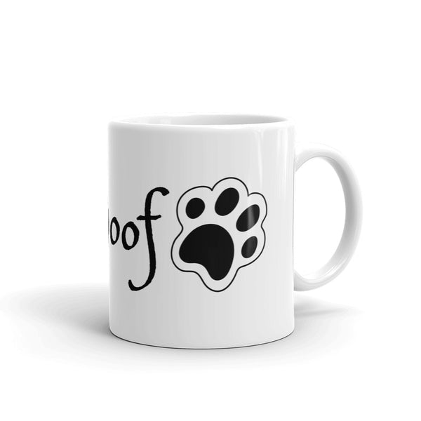 TLS Woof Dog Paw White Mug - T's Little Somethings