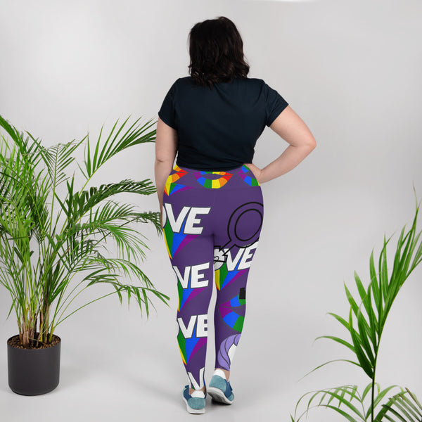 Pride Print Plus Size Leggings
