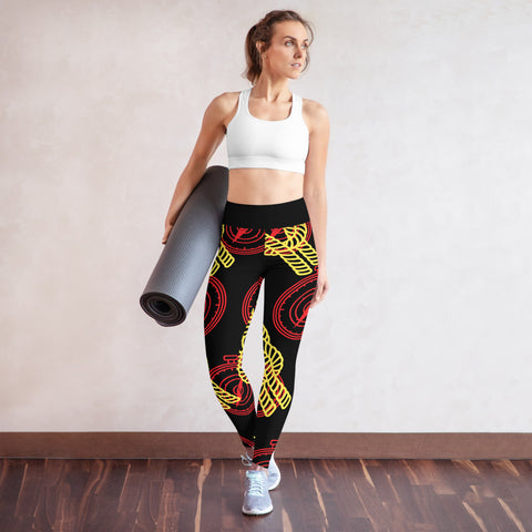 Compass Knot Yoga Leggings