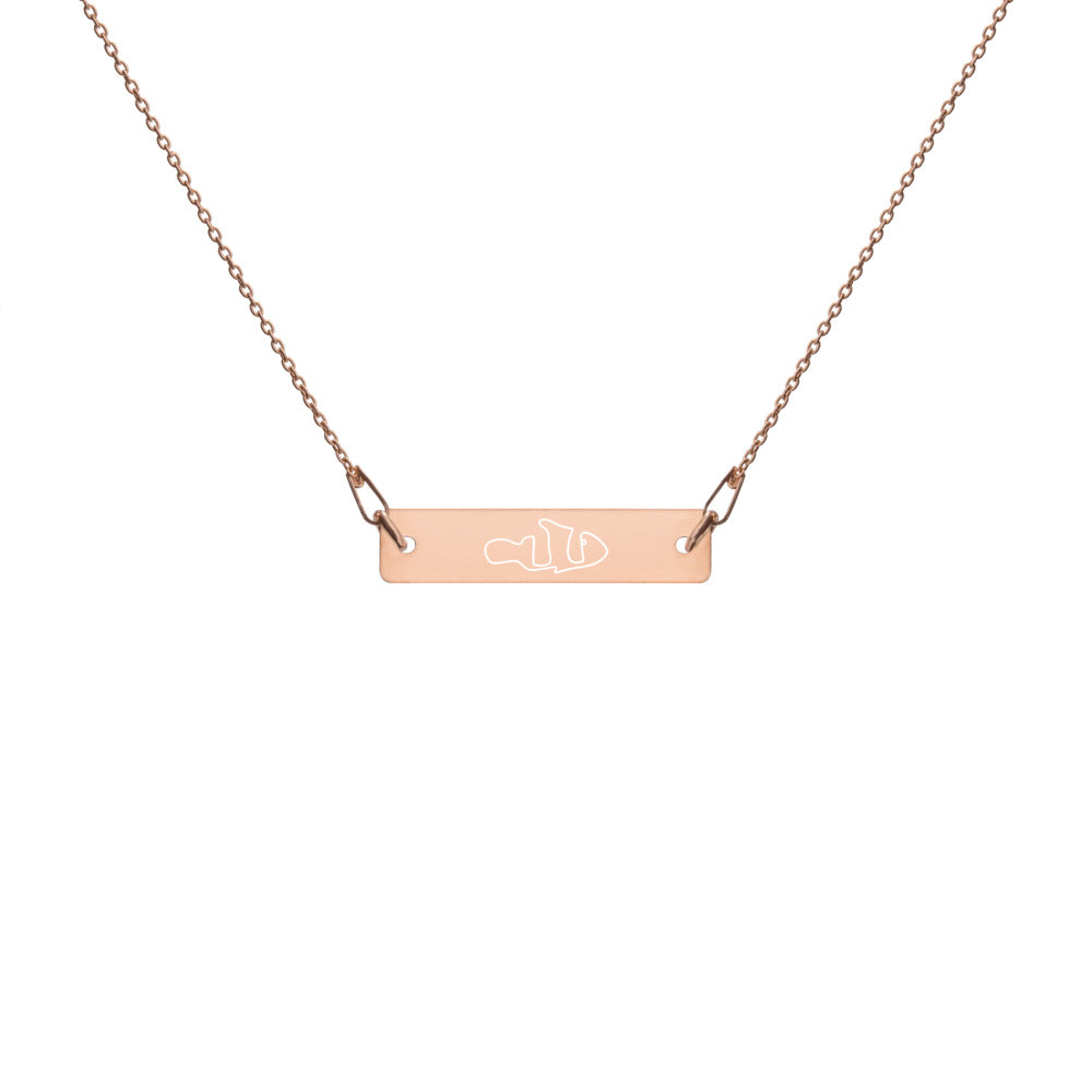 TLS Engraved Silver Bar Chain Necklace - T's Little Somethings