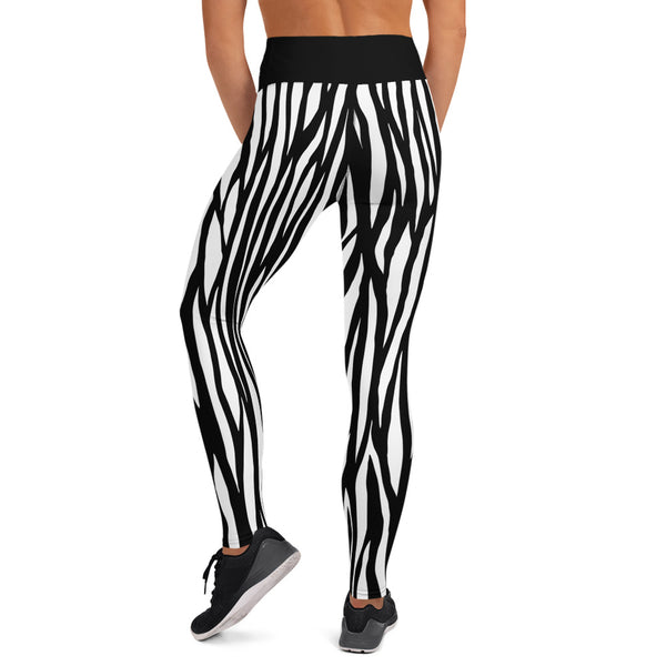 TLS Black Zebra Print Yoga Leggings - T's Little Somethings