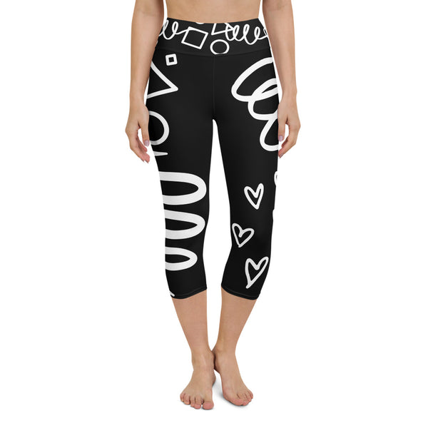 Shapes Yoga Capri Leggings Black