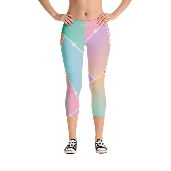 TLS Glass Pattern Capri Leggings - T's Little Somethings