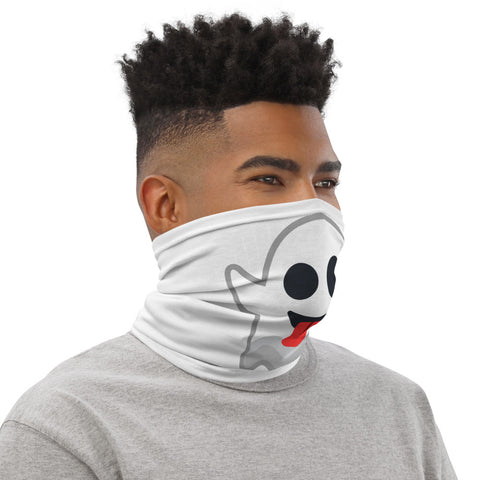 White Neck Gaiter Ghost Print - T's Little Somethings