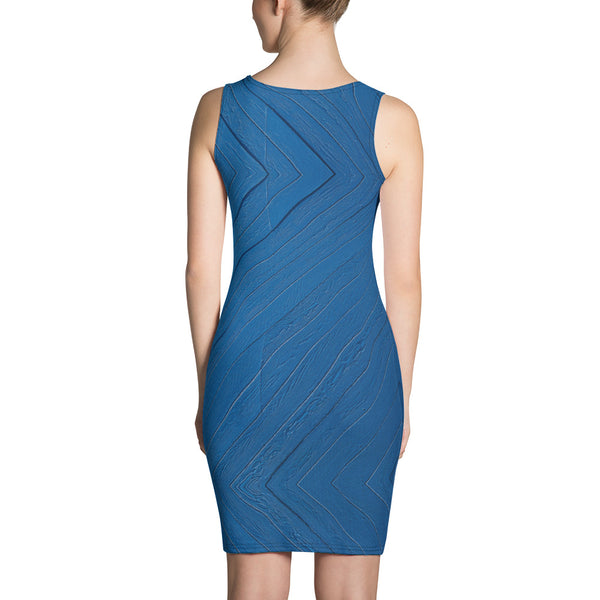 TLS Blue Fitted Dress - T's Little Somethings