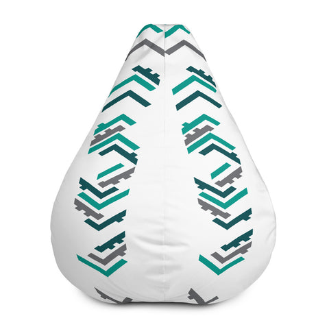 TLS Patterned Bean Bag Chair w/ filling - T's Little Somethings
