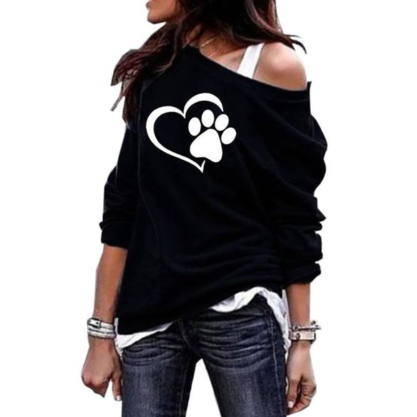 Round Neck Shoulder Sweatshirt