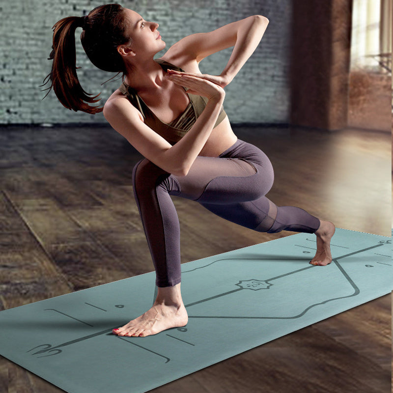 TPE Yoga Mat with Alignment - T's Little Somethings