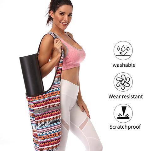 Printed Fitness Yoga Mat Bag - T's Little Somethings