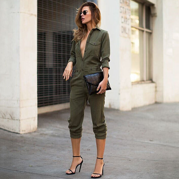 Army Green Jumpsuit - T's Little Somethings