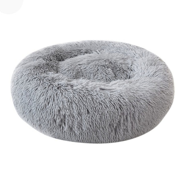 Round Plush Cat/Dog Bed Nest - T's Little Somethings
