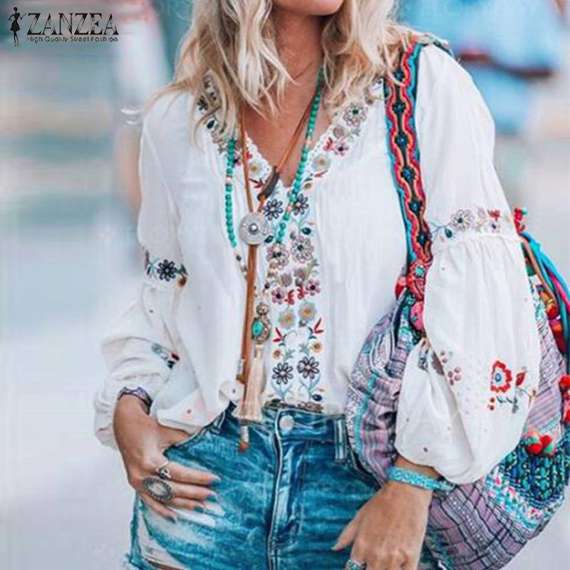 Bohemian Floral Printed Tunic Top  - T's Little Store
