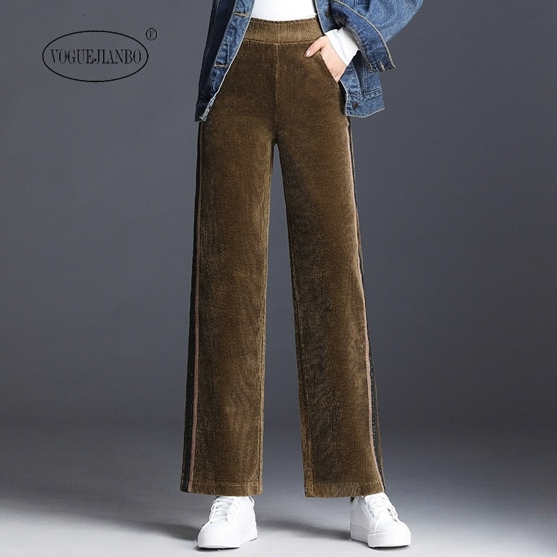 Corduroy wide-leg pants  - T's Little Store