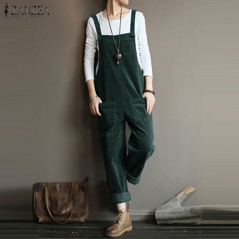 Corduroy Suspender Jumpsuits  - T's Little Store