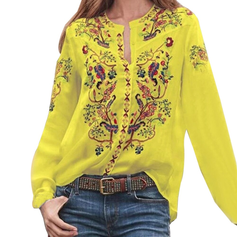 Bohemian Printed Blouse  - T's Little Store
