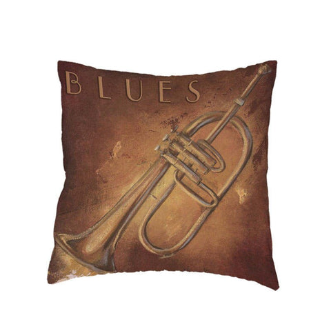 Vintage Piano Violin Decorative Pillow Case