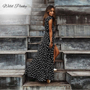 Polka Dot Maxi Dress - T's Little Somethings