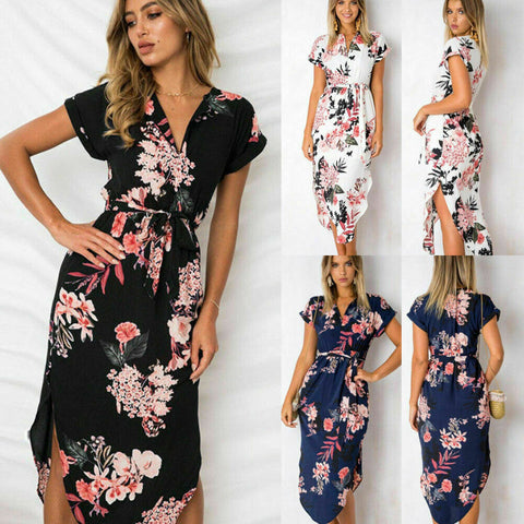 Floral Printed Maxi Dress - T's Little Somethings