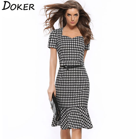 Houndstooth Formal/ Evening Dress - T's Little Somethings