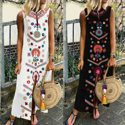 Vintage Boho Maxi Dress - T's Little Somethings