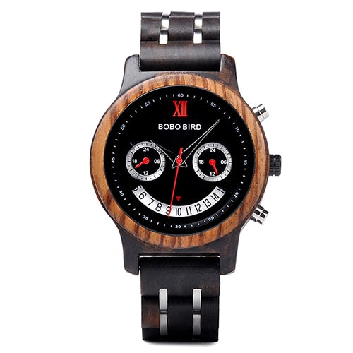 BOBO BIRD Smile Face Design Wristwatch - Men and Women