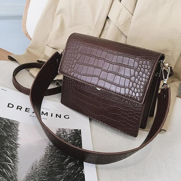 Women's  Crocodile Pattern Handbag
