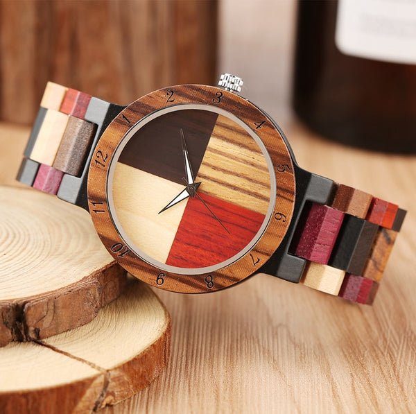 Mixed Color Cross Wood  Watches