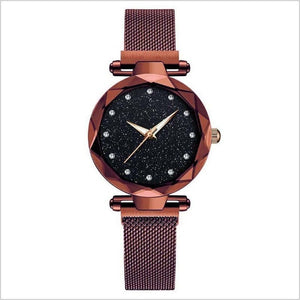 Watch For Women Rose Gold Mesh Magnet - T's Little Somethings