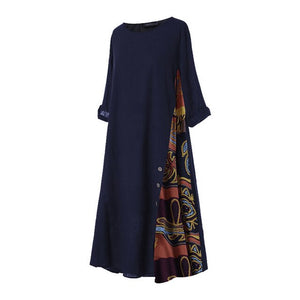 Women's Patchwork Maxi Dress