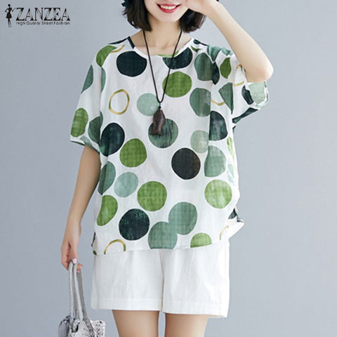 Polka Dot Short Sleeve Top - T's Little Somethings