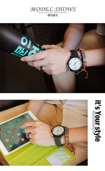 Luminous Quartz Wristwatch