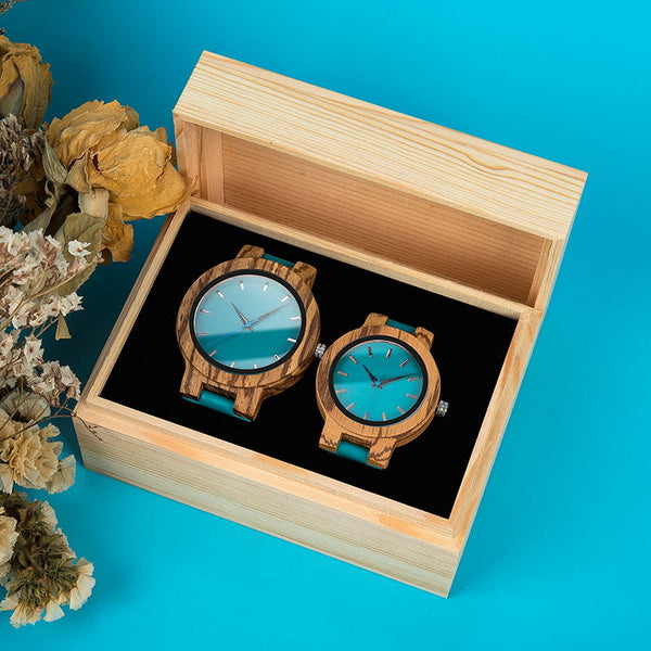 BOBOBIRD Couples WristWatch in Wooden Box