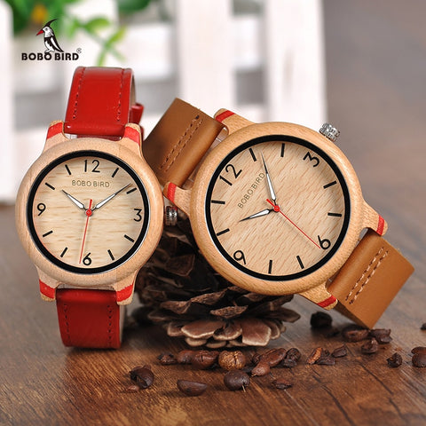 BOBO BIRD Couples Bamboo Watches