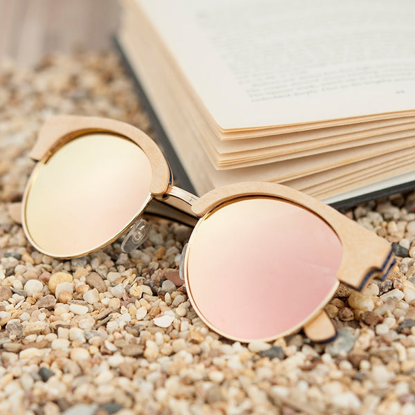 BOBO BIRD Wooden Ladies Sunglasses