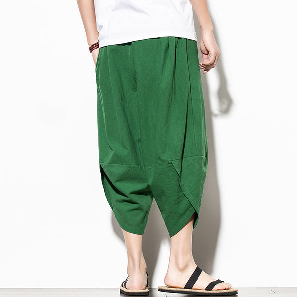 Men Casual Hip Hop Trousers Green