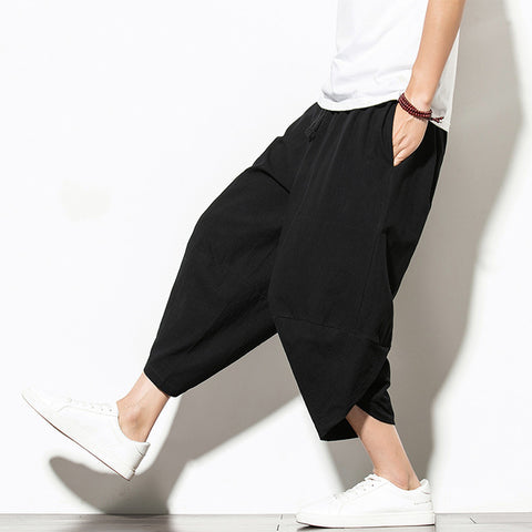 Men Casual Hip Hop Trousers Black