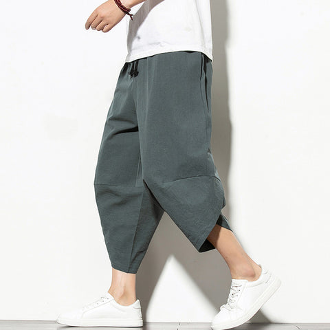 Men Casual Hip Hop Trousers Gray