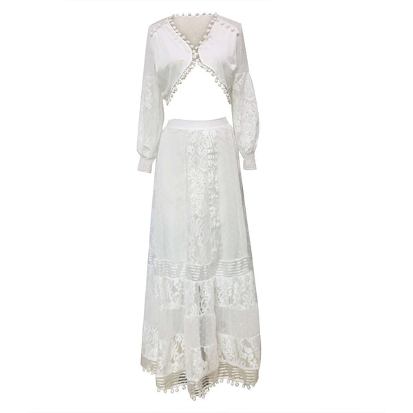 Lumbar Lace Hollow Out Dress