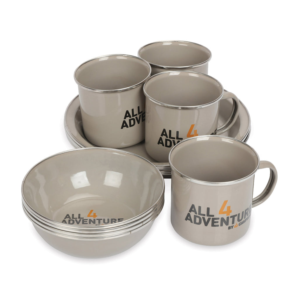 Enamel Dinner Set (12pc)