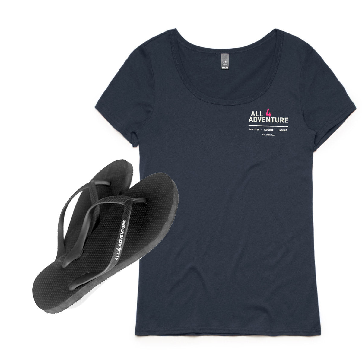 Ladies Tee & Slimline Thongs Bundle