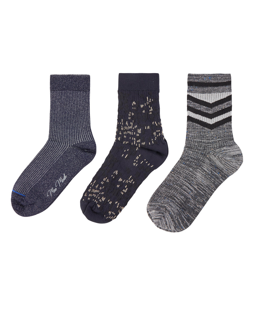 Mos Mosh 3-pack Lurex Socks