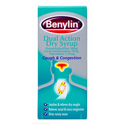 BENYLIN DUAL ACTION DRY COUGH SYRUP