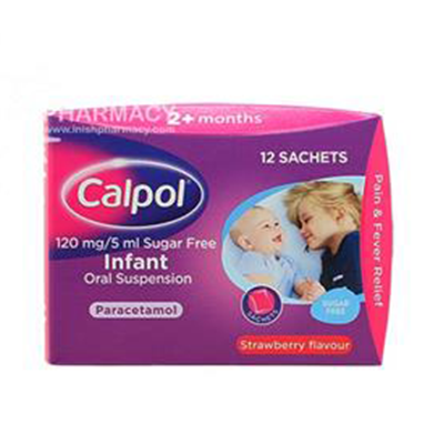 CALPOL 2M+ 120MG/5ML SACHETS 12'S